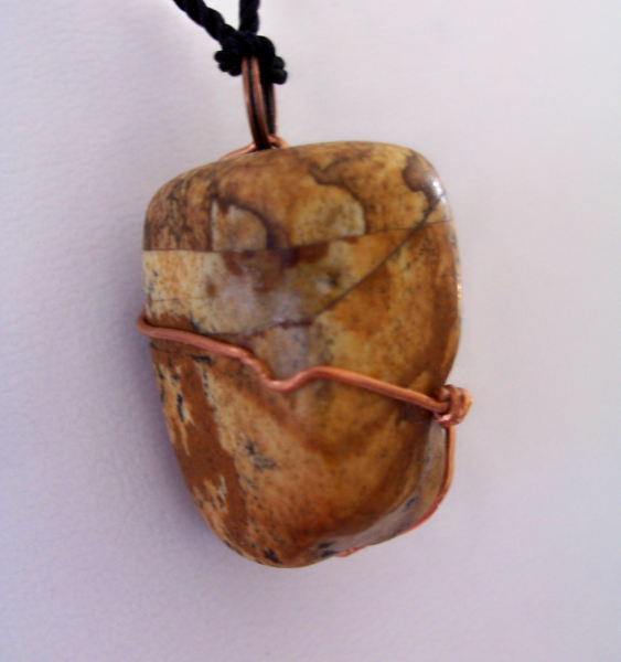 Big Chunky Picture Jasper Wrapped in Copper