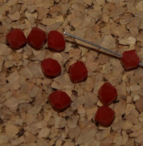 Dark Coral Red Swarovski Crystal Bicone 4mm
