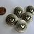 5 Hammered Metal Heart Shank Buttons