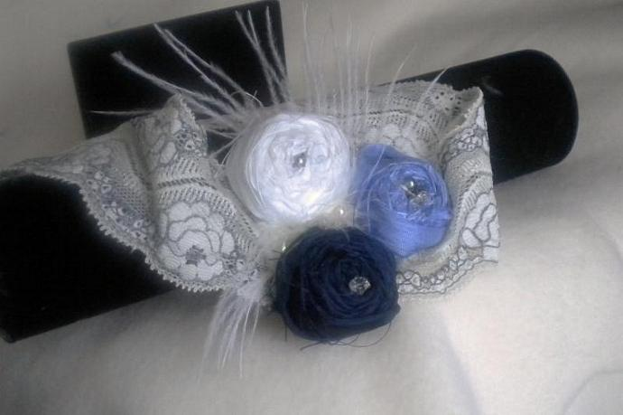 Romantic lace and roses headband