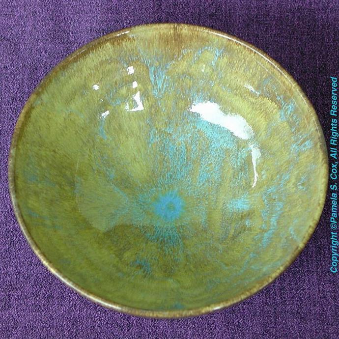 Banana Blue Stoneware Bowl