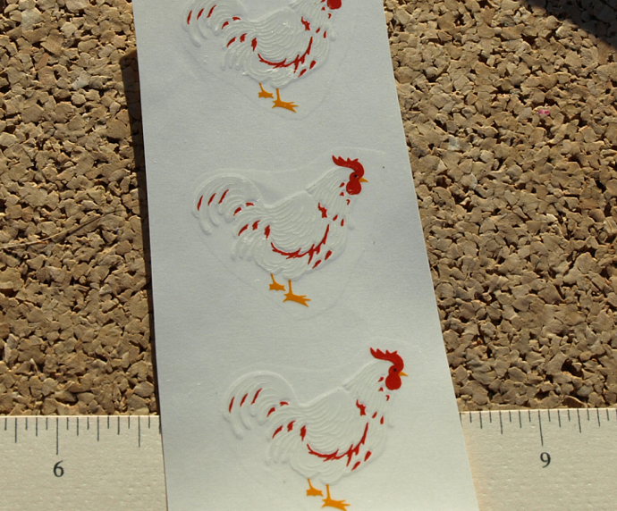 Rooster Ceramic Waterslide decals D10-48
