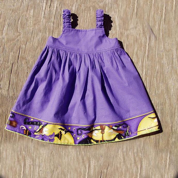 Witches Border Dress, size 12 Months