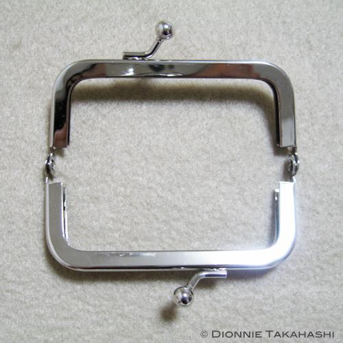 Purse Frame 8 cm - Silver / Set Instruction