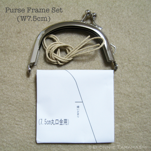 Purse Frame 7.5 cm - Silver / Set Instruction