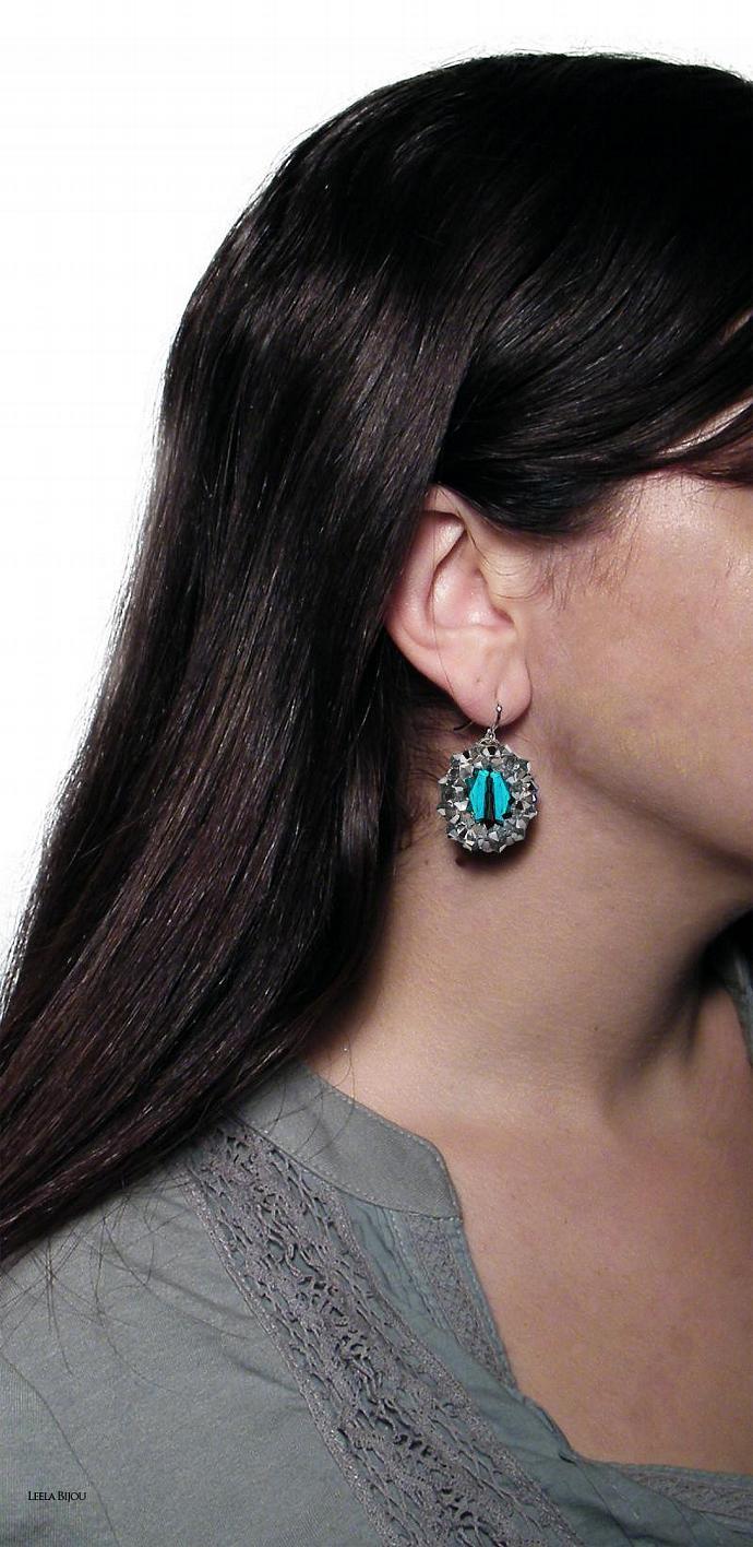 Emerald Green Earrings Swarovski Crystal Sterling Siver