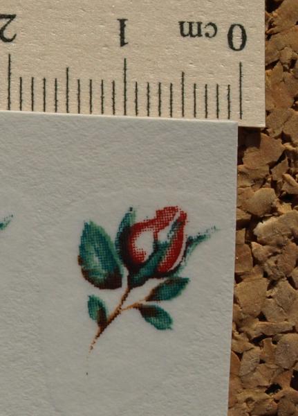 Tiny Rose Ceramic Waterslide Decals D10-45