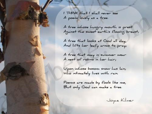 A Poem as Lovely as a Tree FAP (Fine Art Print)