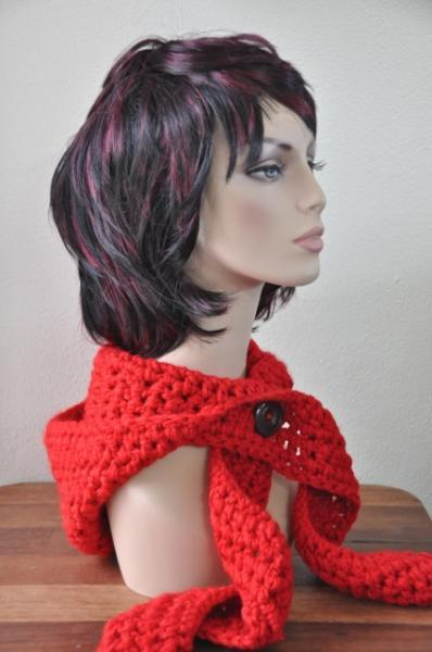 Little Red Riding Scoodie - Crochet Hood, Scarf - the ultimate solution