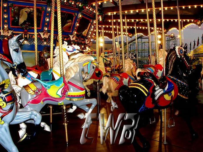 Carousel Ride set of 4 prints