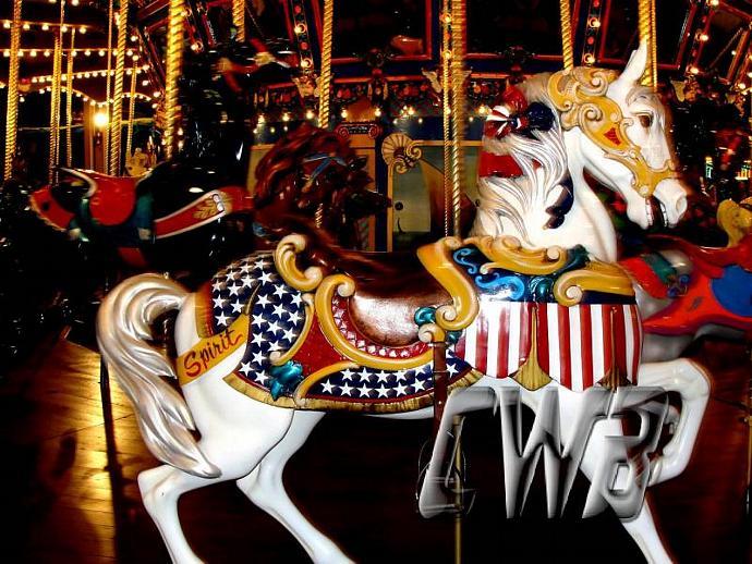 Spirit Carousel Pony photographic art print