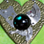Steampunk Leather Heart Pendant