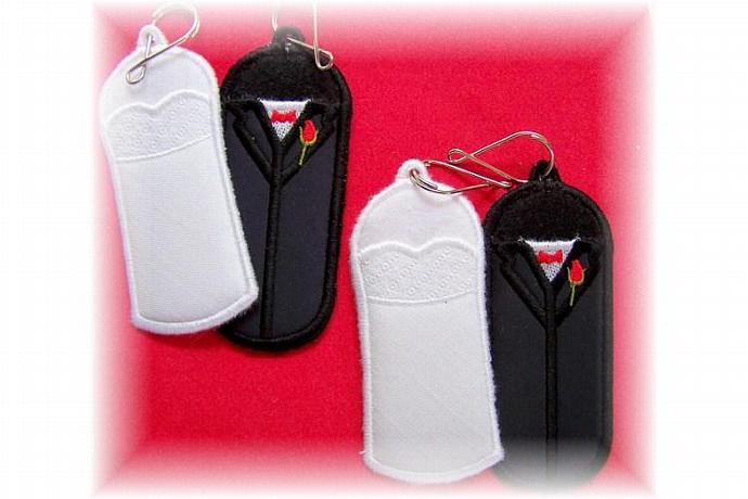 Bride & Groom Lip Balm, USB Chapstick Holders