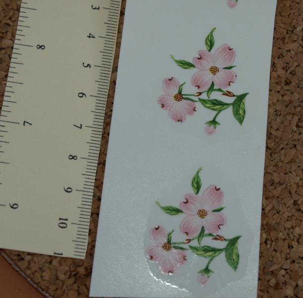 Pink  Flowers Ceramic Waterslide Decal (D10-1)
