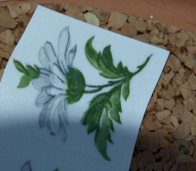 White Flowers Ceramic Waterslide Decals 10-4