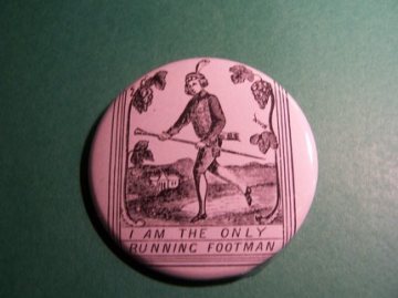 The Runner - Antique Etching Button