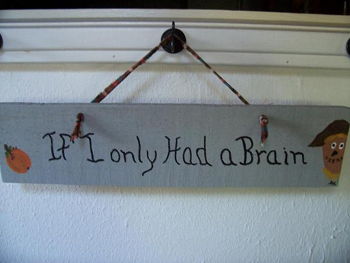 If I Only Had a Brain Sign