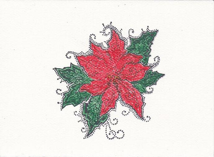 Red Poinsettia Christmas Card