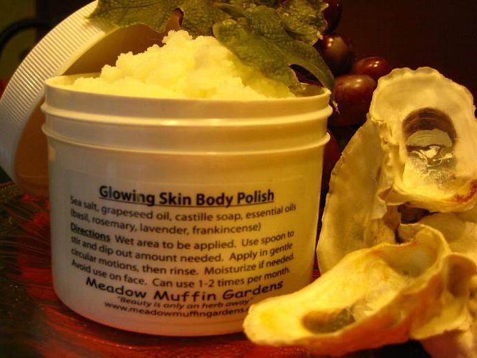 Salt Scrub Body Polish, Bath Soak, Cleansing Bath Salts, Salt Skin Glow