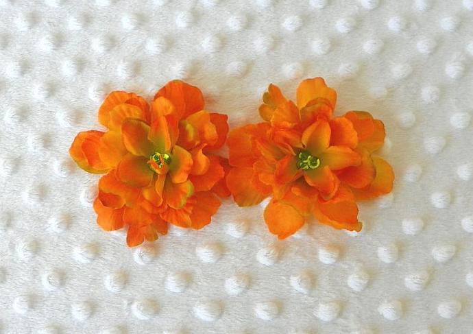 Flowers Set of 2 Silk for flip flop shoes clips  Autum Colors
