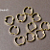20 pcs Bright Gold Finish Apple Shape Link