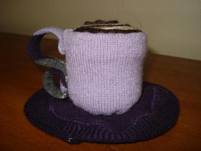 Pincushion - Teacup Lilac and Purple