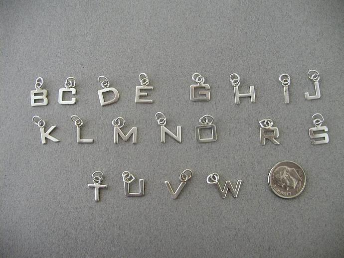 SS Letter/Alphabet Charms