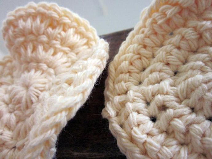 Cotton Face Scrubbies Set of 3- Cream