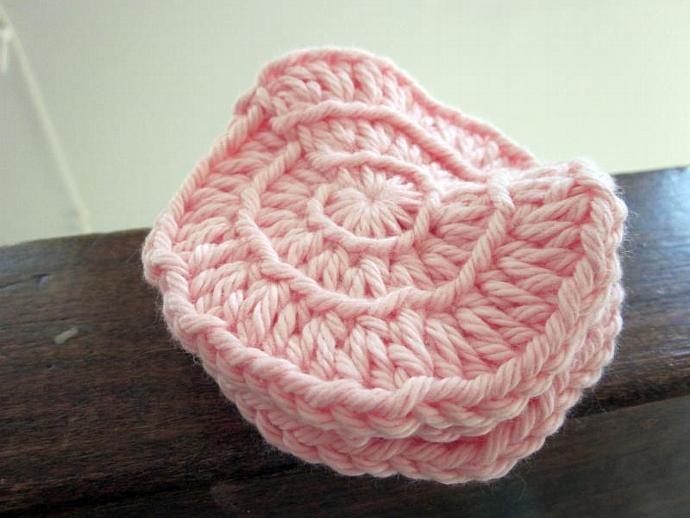 Pink Premium Cotton Face Scrubbies