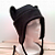 BLACK kitty CAT AVIATOR earflap hat goth punk ski