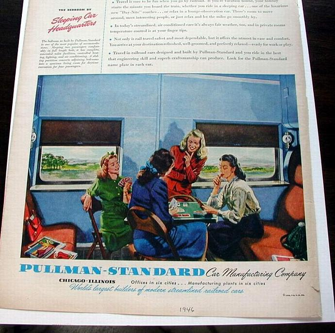 1946 Life Magazine Ad-Pullman Standard Train Car
