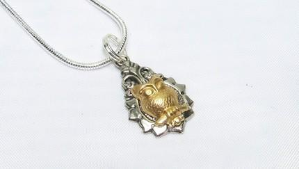 The Tiniest of Steampunk Super Petite Steampunk Owl Necklace