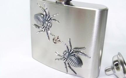 The ULTIMATE UNISEX GOTHIC STEAMPUNK GIFT--5oz Stainless Steel Flask