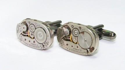 Sleek and Sexy Steampunk Cufflinks