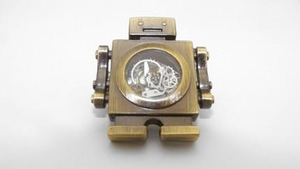 In The Heart Of a Robot STEAMPUNK INSPIRED ROBOT BROOCH by TheSteampU