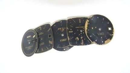 STEAMPUNK INSPIRED BARRETTE with CASCADING WATCH FACES - TOO CUTE