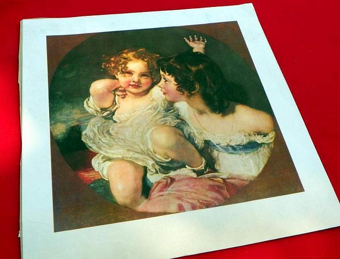 Two Sisters . Art Print.