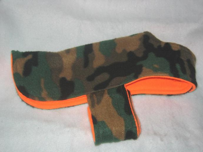 Camo Hunter Dog Coat Vest Reversible Fleece XS
