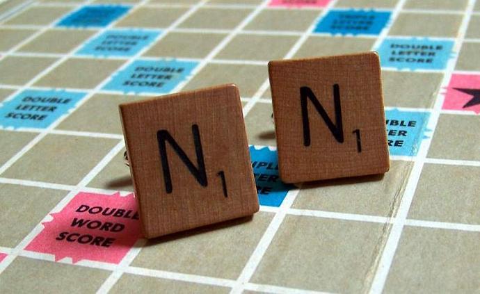 Handmade 1948 Scrabble tiles Cuff Links.U Choose. Gift Box
