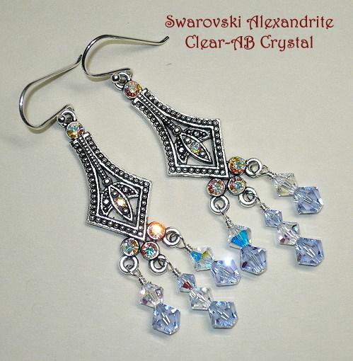 Swarovski Alexandrite Chandelier Earrings