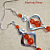 Hyacinth Orange Chandelier Earrings