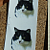 Black and White cat Ceramic Waterslide Decals