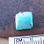 Little Blue Square Cabochon of Kingman Blue Turquo