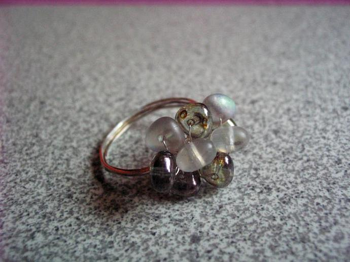 Glass Beads Ring