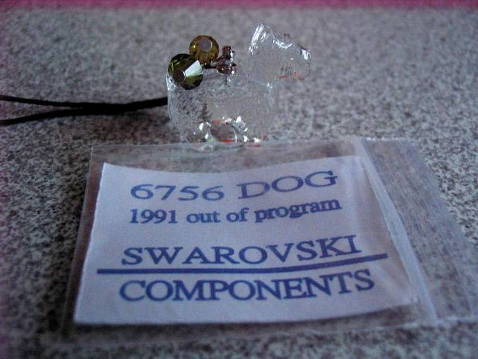 Swarovski VINTAGE Crystal Pendant, 20mm Scottie Dog, cell phone, handbag, key