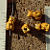 Orange Tiger Cat Ceramic Beads
