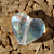 Clear Dichroic Heart Czech Beads 9-1213