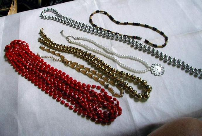 Lot of Six Funky Necklaces Little girl's Costume Jewelry