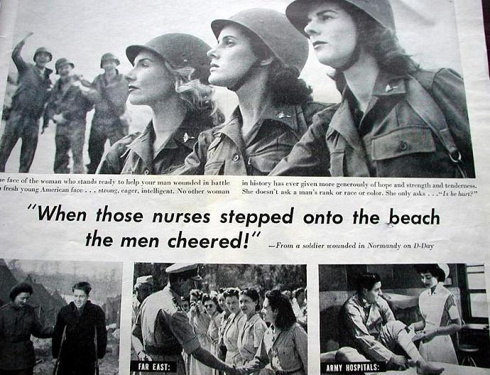 1945 Life Magazine Ad-Army Nurse Corps, Woodbury Soap