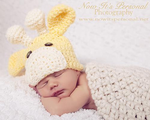 Crochet Pattern Baby Giraffe Beanie Hat PDF 175 - Newborn to 3 Months -